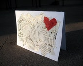 HUGE SALE I Heart You Greeting Card Recycled