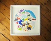 Colourful Animal Screen Print