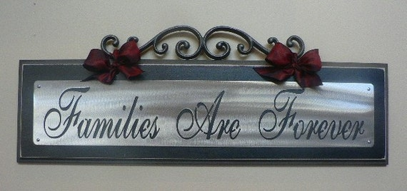 Families Are  Forever wall plaque