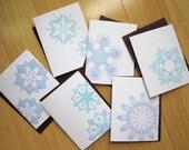 Set of Six Snowflakes