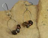 Stone Chip, Earth Tone earrings