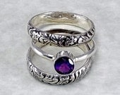 Lyonesse Stacking Ring Set in Amethyst February Birthstone