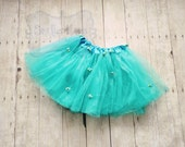 Aqua/Teal Rosette Tutu-Baby Tutu-Girls Tutu-Dress Up-Photo prop