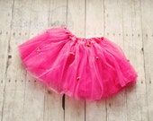 Pretty Pink Rosette Tutu-Baby Tutu-Girls Tutu-Dress Up-Photo prop