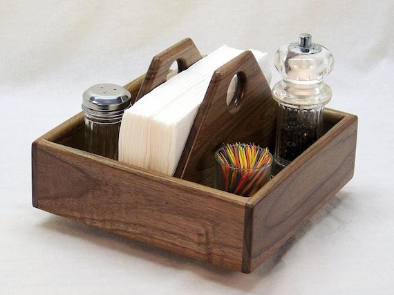 Items similar to lazy susan kitchen caddy napkin holder - Lazy susan desk organizer ...