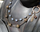 Come Fly With Me - Asymmetrical layered necklace