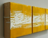 Yellow & White Encaustic Trio: Instant Sunshine