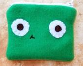 Green Fleece Coin Purse cute
