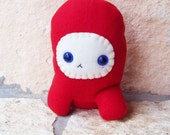 Red Plushie Alien Nubby SALE CLEARANCE