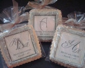 Personalized Wedding Favors Champagne Ivory Shortbread Cookies