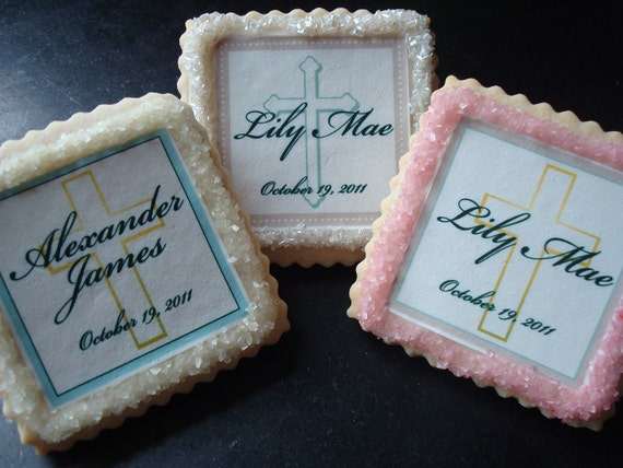 Baby Christening Baptism Confirmation Shortbread Cookie Favors