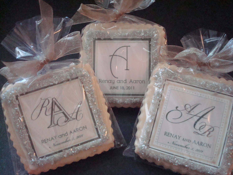 Personalized Wedding Gifts Ideas: Wedding Favors Shortbread Custom Cookies