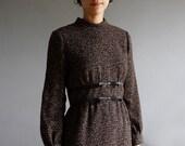 1960's brown dot dress m / l