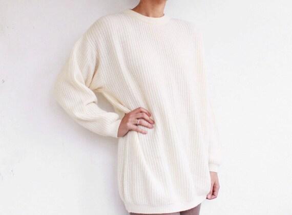 1980's oversize vanilla sweater