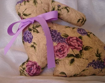 Bunny Rabbit - Lilac and Roses Pattern