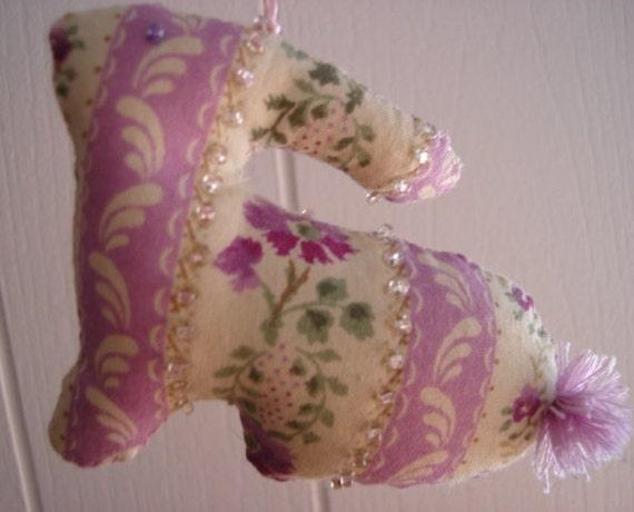Rabbit Ornament - Hand Stitched