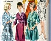 vintage 60's Vogue 5279 Two piece dress, UNCUT, size 12 bust 32