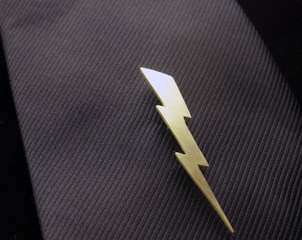 LIghtning Bolt Sterling Silver Tie Pin Handmade
