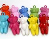 4 pcs Cutie Teddy Bear Charm Pendant / Mix Colors