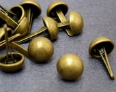 100pcs 8mm BRASS Round Dome Purse Bags Feet Decorative item STUDS NAILHEADS Spike