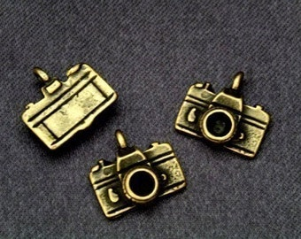 47 pcs camera, mix of Antiqued Brass+silver+gold Plated Charms Pendant