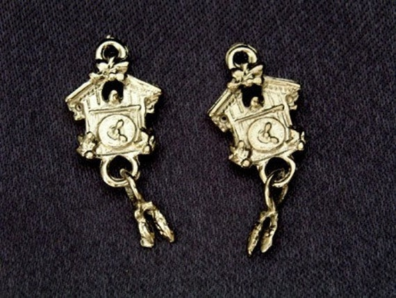 74 pcs Coo Coo House Clock Silver Plated Charms Pendant