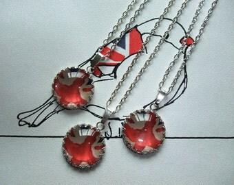 Union Jack Pendant - Silver Necklace