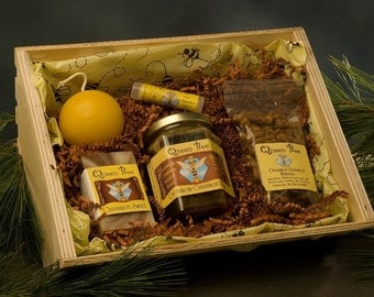 Cardamom Cinnamon Honey gift basket by queen bee honey