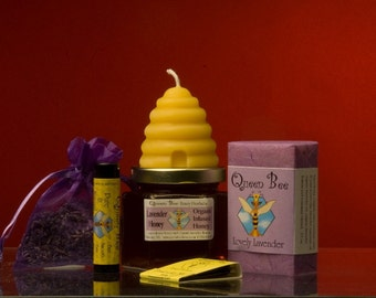 Lavender honey gift bag  by queen bee honey