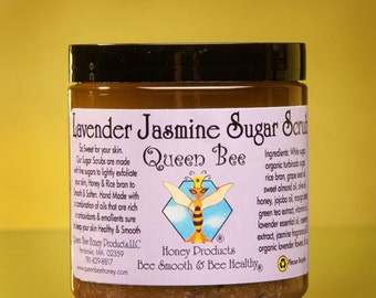 Lavender-Jasmine Sugar Scrub by queen bee honey