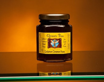 Cardamom cinnamon honey 5.5 oz.by Queen Bee Honey Products