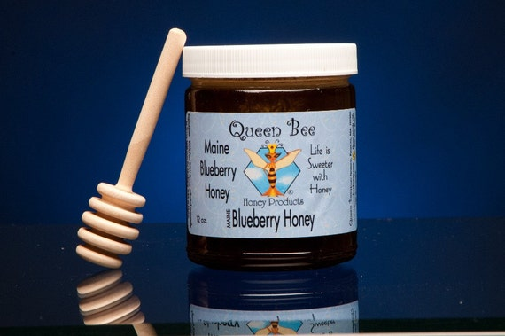 Wild Maine Blueberry Honey by Queen Bee Honey Products
