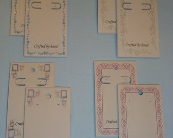 30 Earring Cards - Half-N-Half - Post & Leverback BORDERS