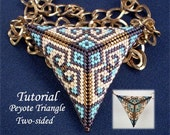 TUTORIAL Peyote Triangle two sided - Bead pattern