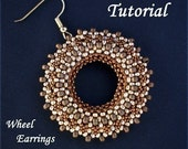 TUTORIAL Wheel Earrings - Bead pattern PDF