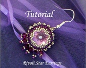 TUTORIAL Rivoli Star Earrings - bead pattern PDF