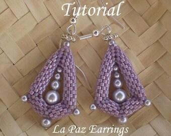 TUTORIAL La Paz Earrings - Beading pattern