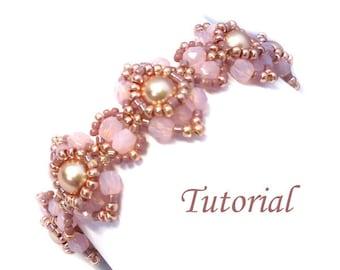 Tutorial Go Blush Bracelet - Beading pattern PDF