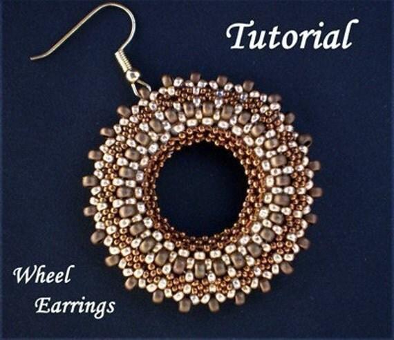 TUTORIAL Wheel Earrings - Bead pattern PDF