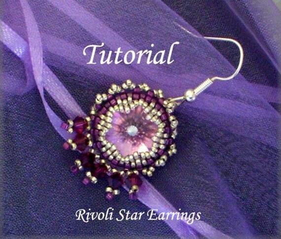 TUTORIAL Rivoli Star Earrings - bead pattern PDF