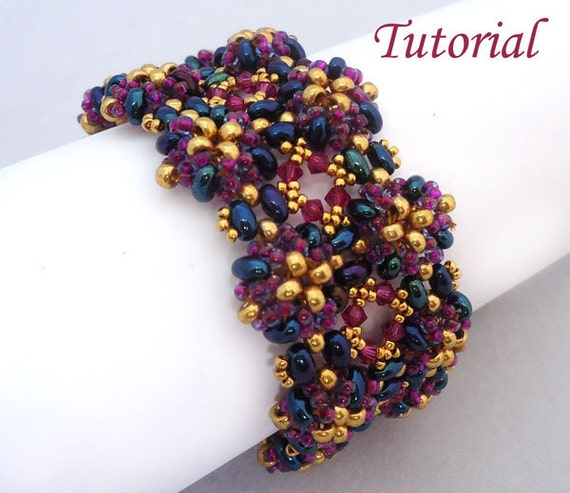 Purple Twins Bracelet - Beading pattern