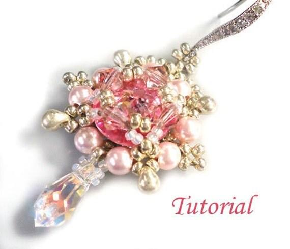 Tutorial Rose Delight Earrings - Bead pattern PDF