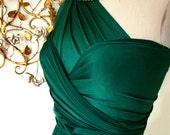 Emerald Bay Satin Convertible Wrap Dress-Last of Fabric