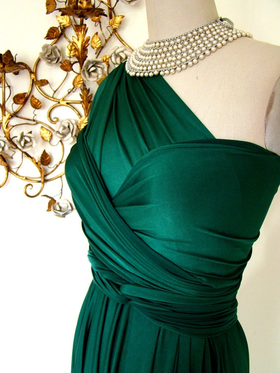 Emerald Bay Satin Convertible Wrap Dress-Last of Fabric