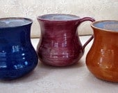 READY TO SHIP Handmade colorful stoneware clay pottery mugs cups