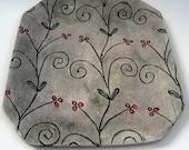Platter/tray, pottery, ceramic, stoneware, clay hand built,