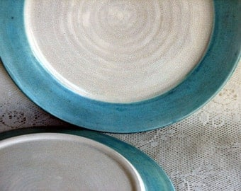 Handmade dinnerware, dinnerplates, tableware, wheel thrown dinnerware, stoneware dinner plates, set of six,custom dinnerware