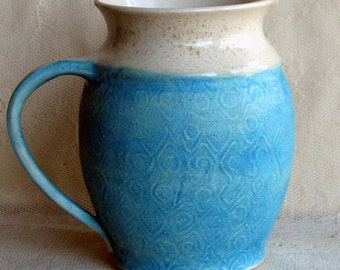 Handmade Large Water Pitcher, Stoneware Pitcher by Leslie Freeman