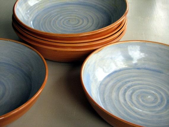 Handmade Stoneware Pasta Bowls Stoneware Pasta Bowls Pottery