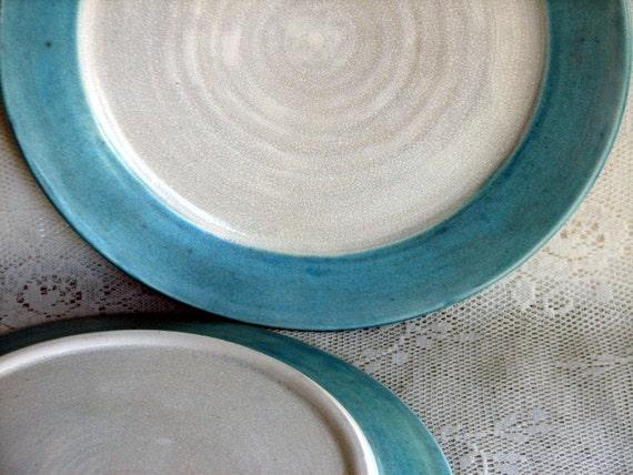 Handmade dinnerware, dinnerplates, tableware, wheel thrown dinnerware, stoneware dinner plates, set of six,custom dinnerware